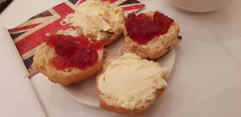 Cream or jam first on scones at A Right Royale Tea?