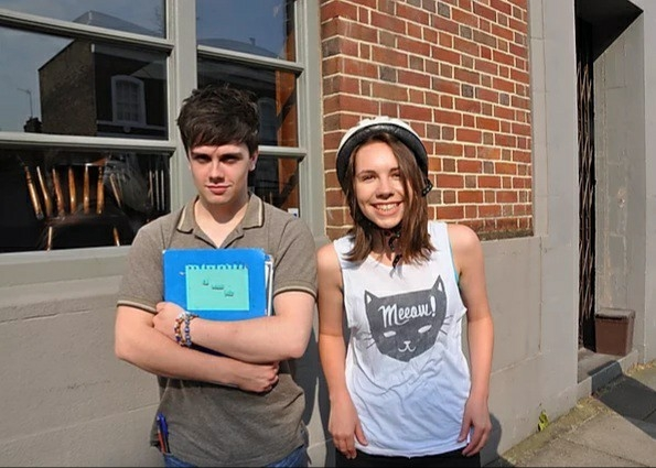 Scarlett Marshall and Gino Wilson as Maisy and Ben in Soundtrack to Sixteen