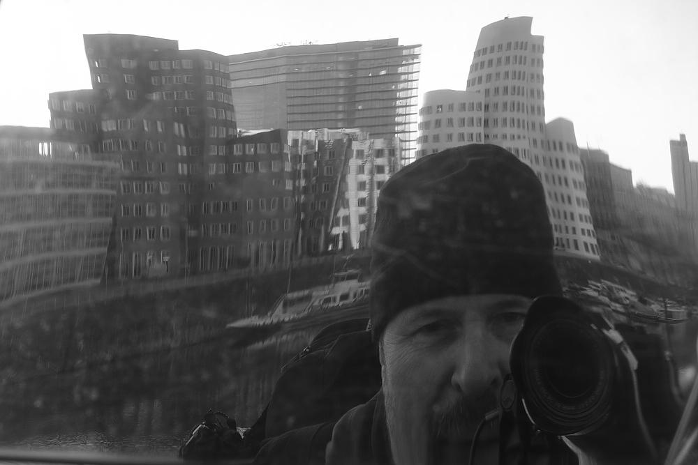 Ich, Arbeitsfoto, Architektur, Medienhafen, Düsseldorf