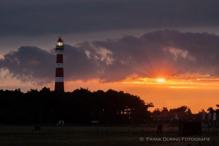 Leuchtturm, Sonnenuntergang, Ameland, NL