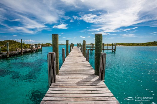 Pier in the Bahamas.