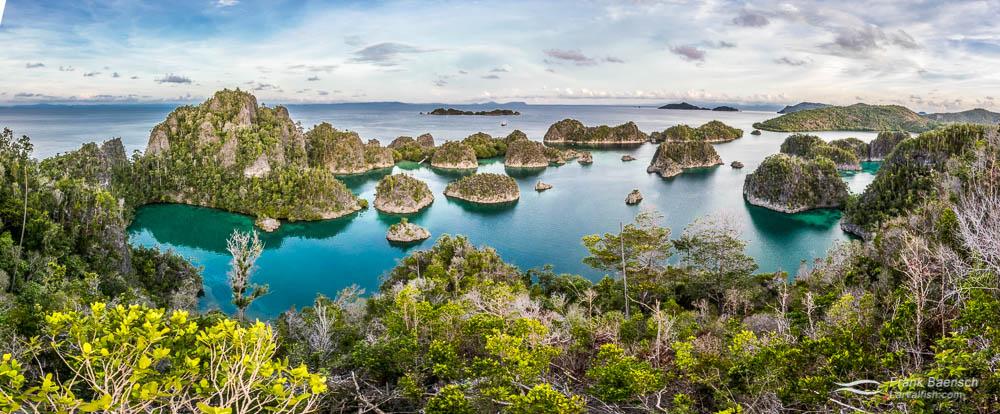View of Raja Ampat, Indonesia.