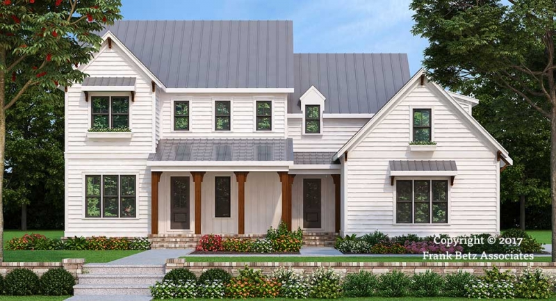 Colonial House Plans   Frank Betz Associates Holston Farm  View Plan Favorites Compare  FILMORE PARK Colonial House Plans