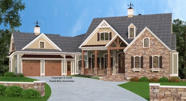 BIRCHRIVER COTTAGE House Floor Plan   Frank Betz Associates Birchriver Cottage House Plan Elevation