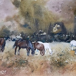 Grazing in Wine Country II (2017) by Frank Eber. Through gallery.