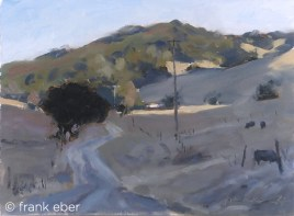 My Hills (2017) by Frank Eber. Oil on board. Through gallery.