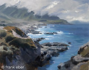 The Overlook, Big Sur (2017) by Frank Eber. Oil on board.