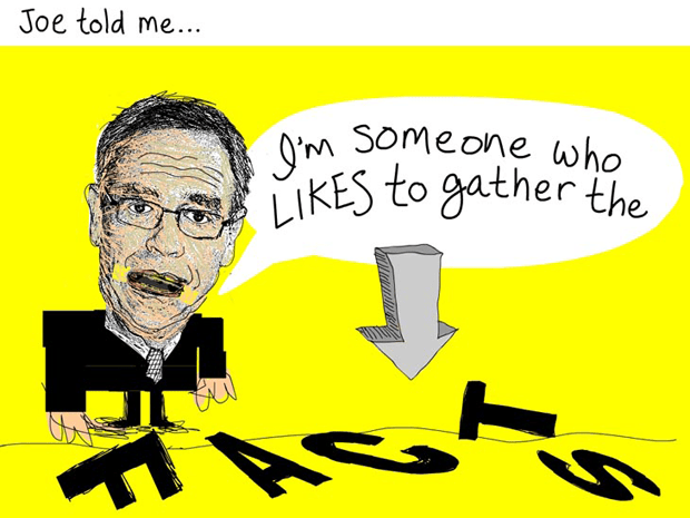 Joe told me, 'I am someone who likes to gather the facts, Joe Oliver Facts illustration by Franke James