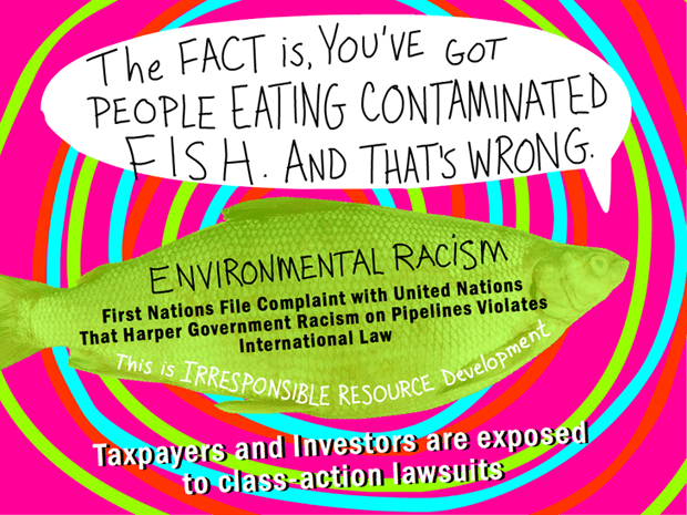 The fact is, you've got people who are eating contaminated fish. And that's wrong; photo-illustration by Franke James
