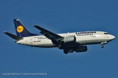 "D-ABXM Lufthansa Boeing 737-330 (sn 23871 / ln 1433) ""Herford"""