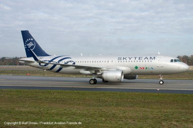 A320 of Middle East Airlines moves by - taken 100m East of the hill. Six-step-ladder and wide-angle lens used.