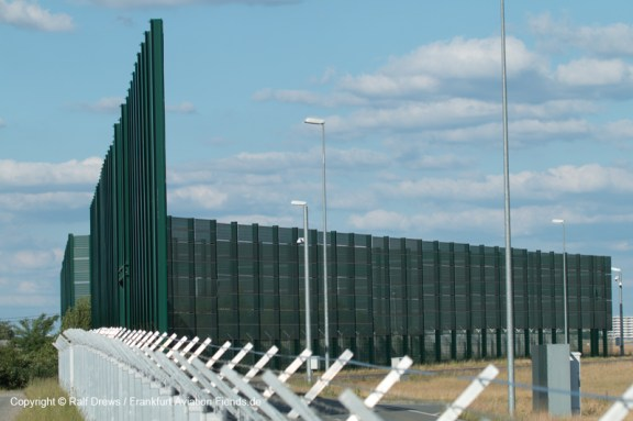 round the large bird-protection fence ...