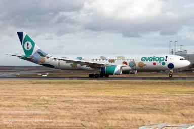 "EC-MII Evelop Airlines Airbus A330-343 (MSN 1691) ""Graffiti"" Frankfurt 19.11.2016"