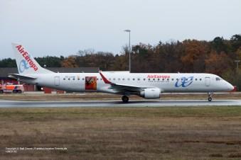 "EC-LKM Air Europa Embraer ERJ-195LR (ln 425) ""100 Years Real Mallorca"" Frankfurt 19.11.2016"