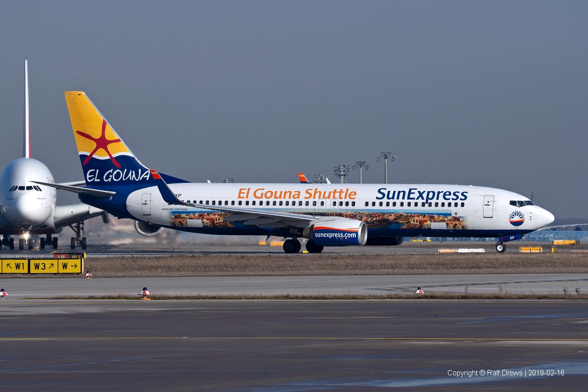 D-ASXP SunExpress Germany Boeing 737-8HX (ln 2539)
