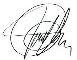 Signatur von Mag. phil. Frank Gruber
