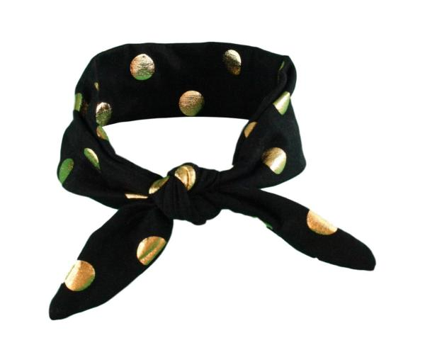 Black & Gold Spots Baby/Toddler Hair Wrap