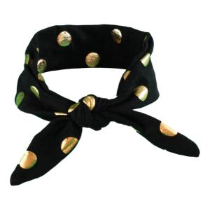 Black & Gold Spots Baby/Toddler Hair Wrap