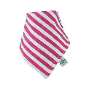 Fuchsia Pink & White Stripey Bib
