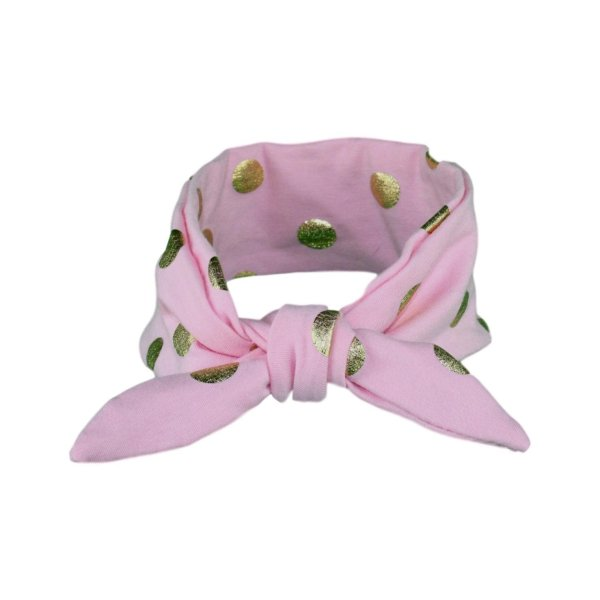 Pink & Gold Baby/Toddler Hair Wrap (Hand wash only)