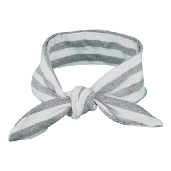 Grey & White Stripey Baby/Toddler Hair Wrap