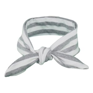 Grey & White Stripey Baby/Toddler Hair Wrap