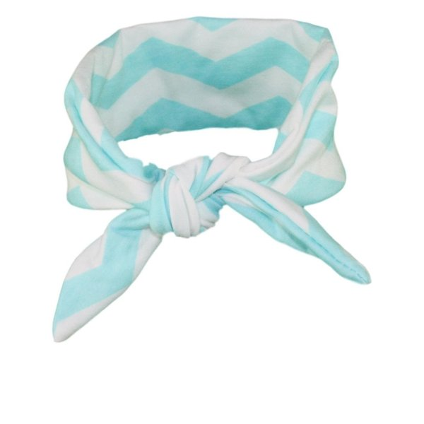 Turquoise & White Chevvy Baby/Toddler Hair Wrap