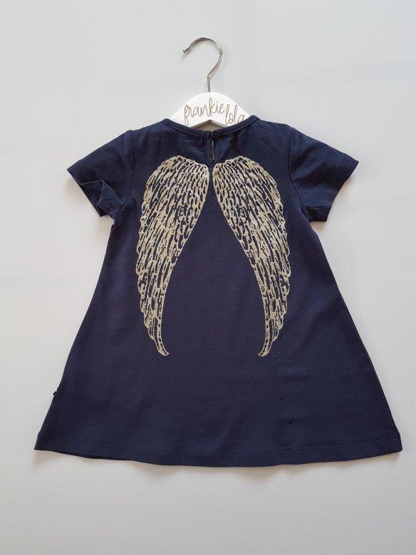 Navy Angel Wing Dress (behind)