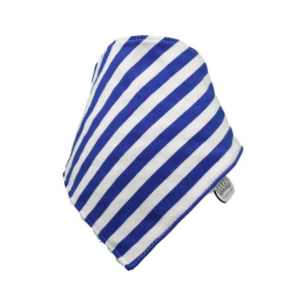 Blue & White Stripey Bib