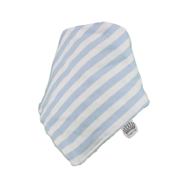 Baby Blue & White Stripey Bib