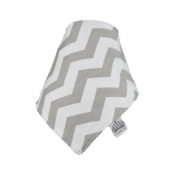 Grey & White  Chevvy Bib
