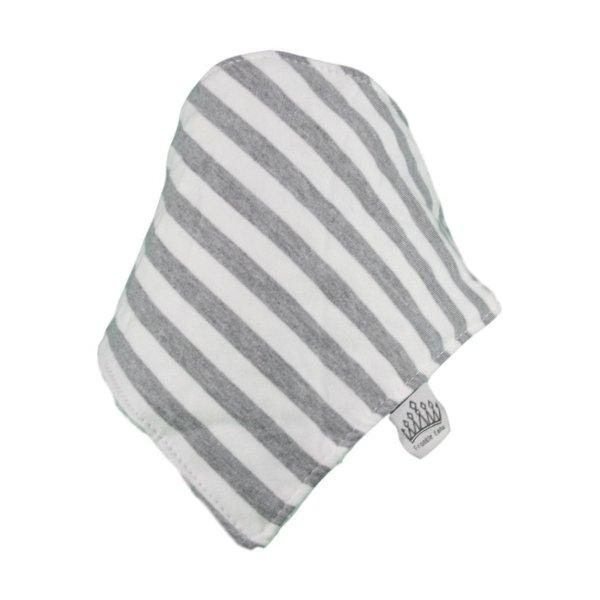 Grey & White Stripey Bib