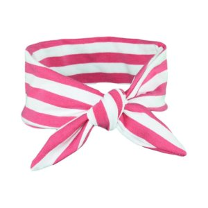 Fuchsia Pink & White Stripey Baby/Toddler Hair Wrap