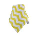 Yellow & white chevron Frankie Lola bib