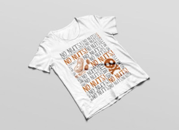 No Nuts Allergy Tshirt