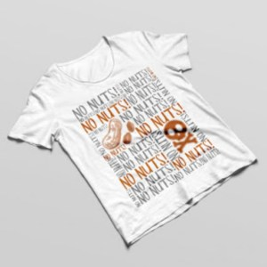 No Nuts Allergy Tshirt