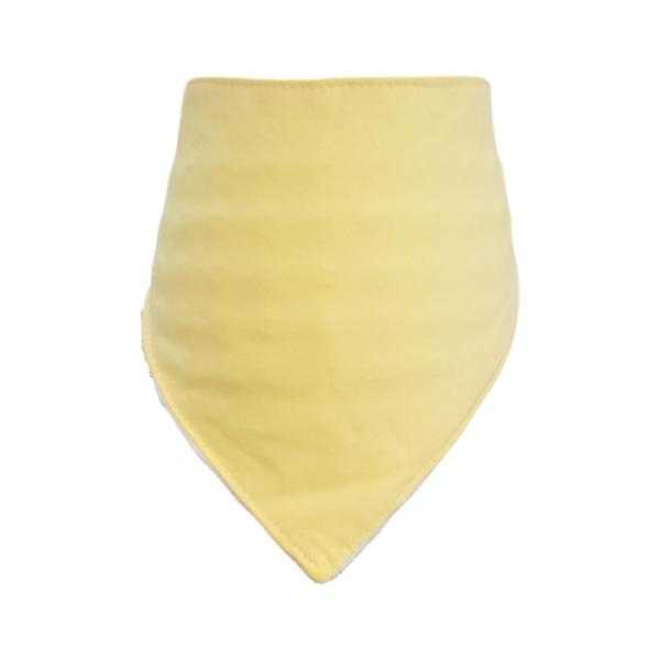 Plain Yellow Bandana Bib