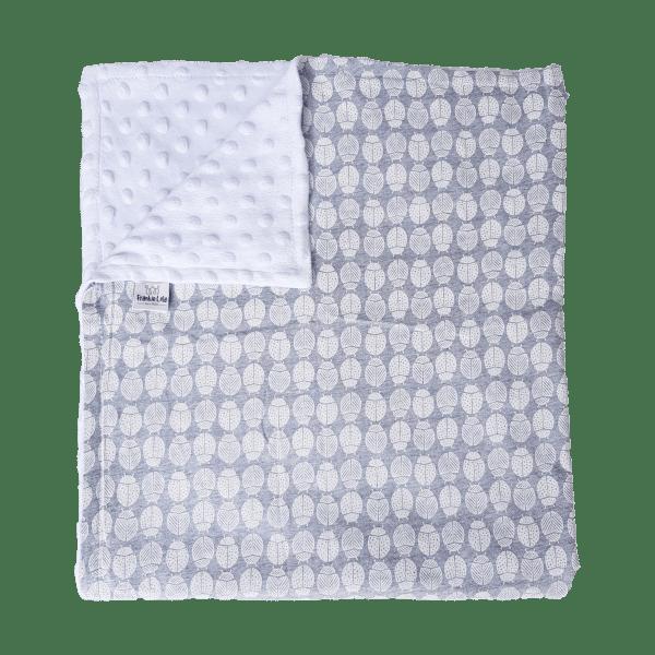 Grey Bug Cotton Baby Blanket