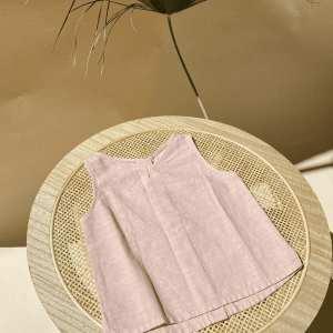 Leinen Top für Kinder in old pink
