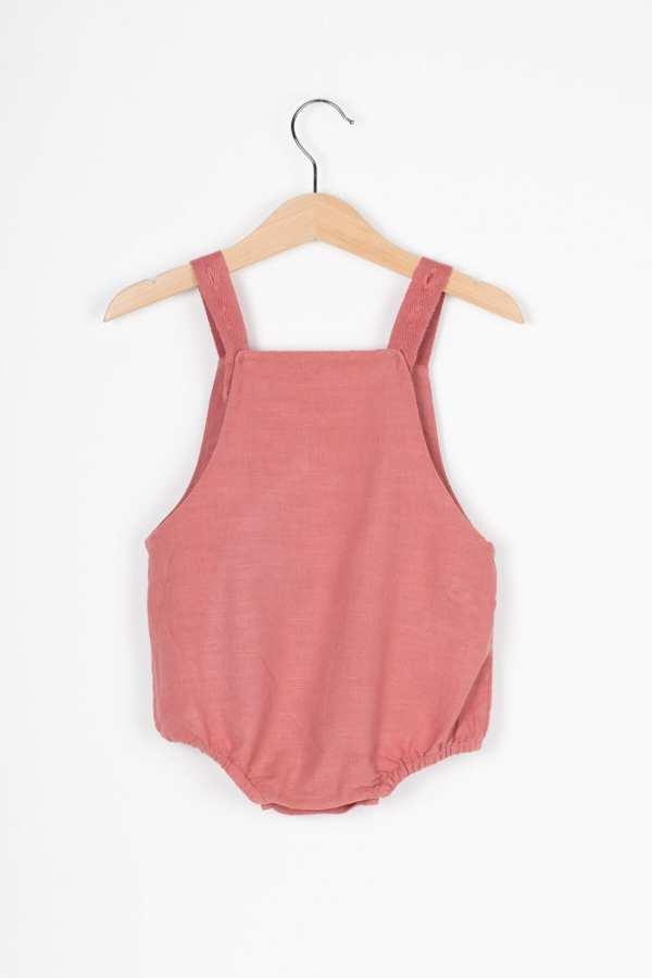 Produktfoto: Einteiler mit mitwachsenden Trägern für Babys, Rückseite