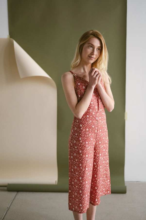 Tencel Einteiler mit floralem Print für Frauen
