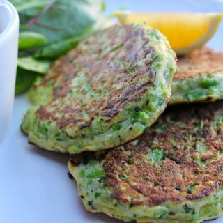 Minted Pea Fritters