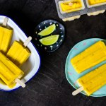 Mango and Lime Popsicles