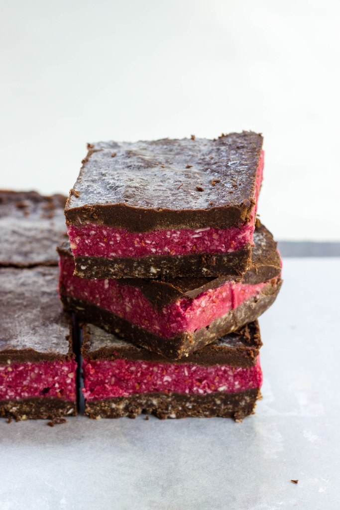 Raw Chocolate Raspberry Slices