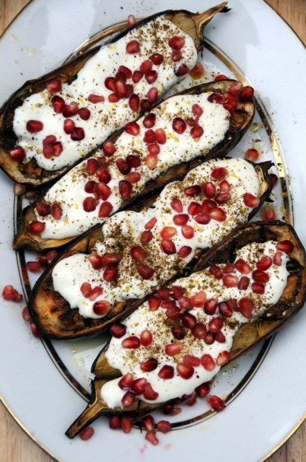 Roasted Eggplant with Pomegranate