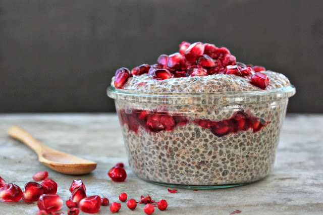 Chai Spiced Chia Pudding with Pomegranate