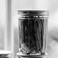 pickled beans B&W
