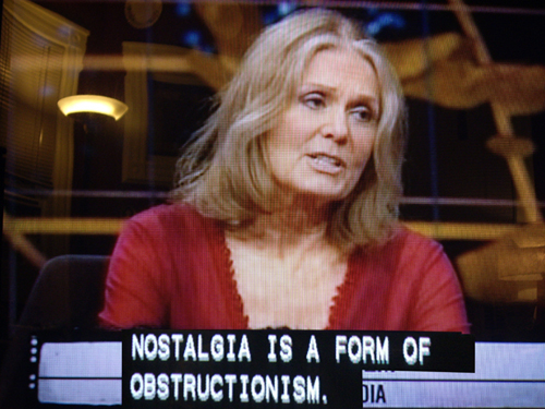Gloria Steinhem on Bill Maher