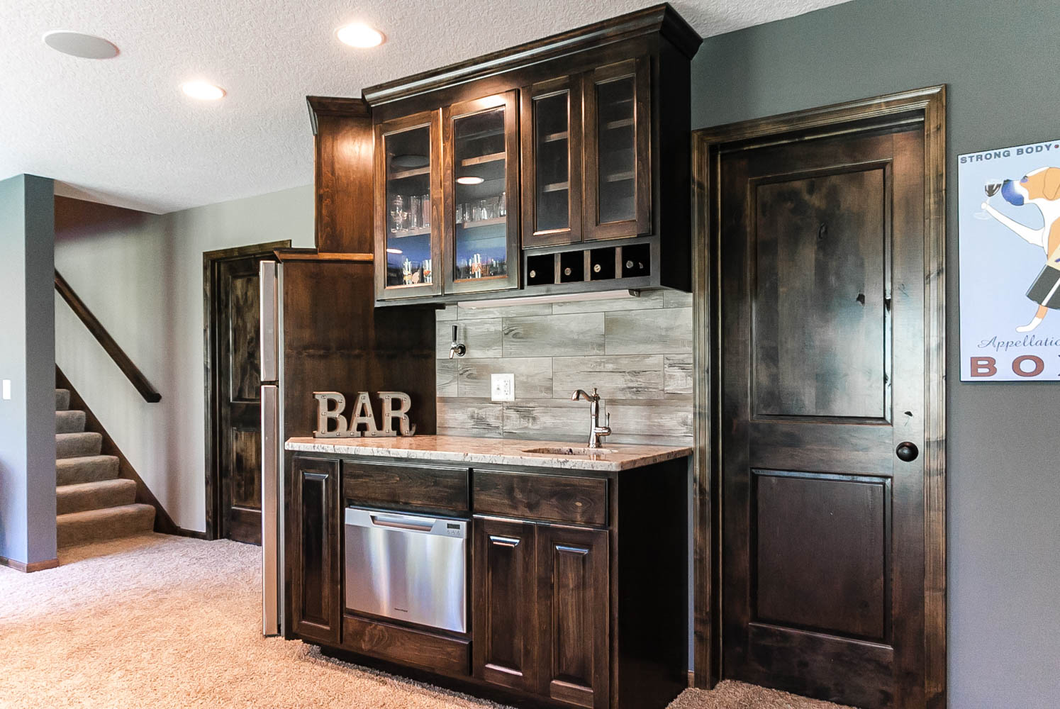 Custom Wet Bar | Plymouth, MN - Franklin Builders on Small Wet Bar In Basement  id=48811