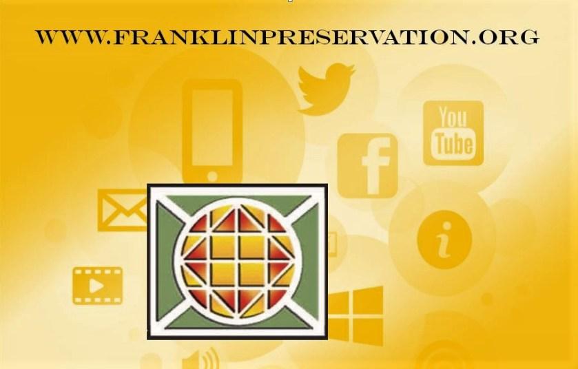 Franklin preservation church window logo over image of Itnernet icoms